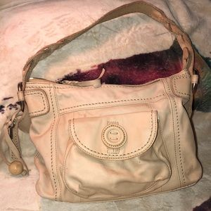 Handbags - Fossil Leather Shoulder Bag Good Condition